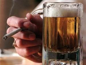 Smoking and alcohol - by smoking and drinking to excess increases the risk by 30 times!